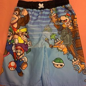 Boys Super Mario Swim Trunks - Size Medium